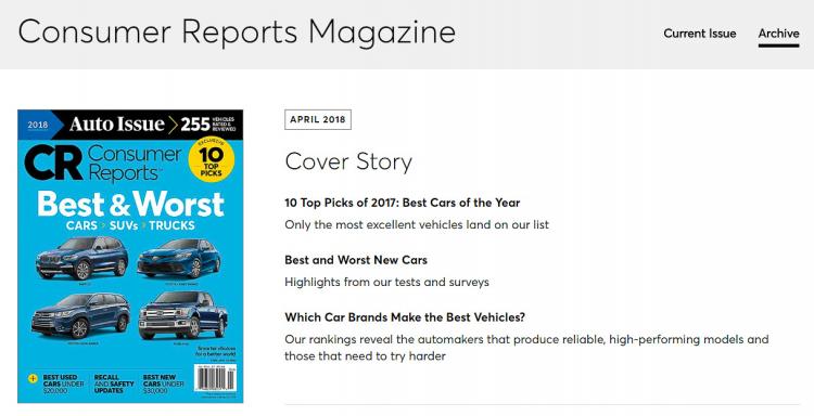Consumer Reports tự chi hơn 2 triệu USD để đánh giá xe mỗi năm